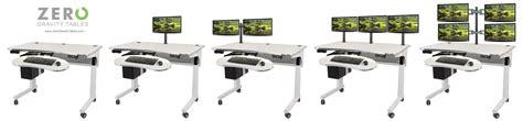 computer monitor setup for height adjustable standing desk