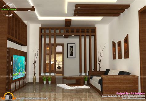 Wooden Finish Interiors  Kerala Home Design And Floor Plans
