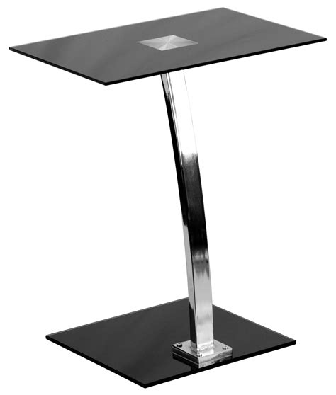 silk black tempered glass top laptop computer desk from