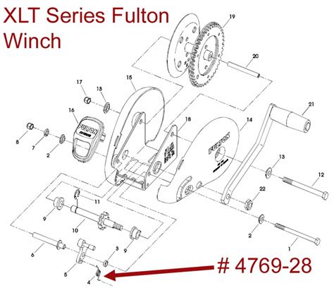 Boat Winch Spring by Exploded Diagram For A Fulton Xlt Series Winch Etrailer