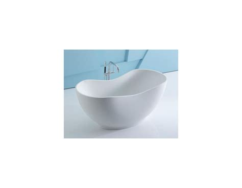 kohler k 1800 hw1 honed white abrazo collection 66 quot freestanding lithocast designer bathtub with