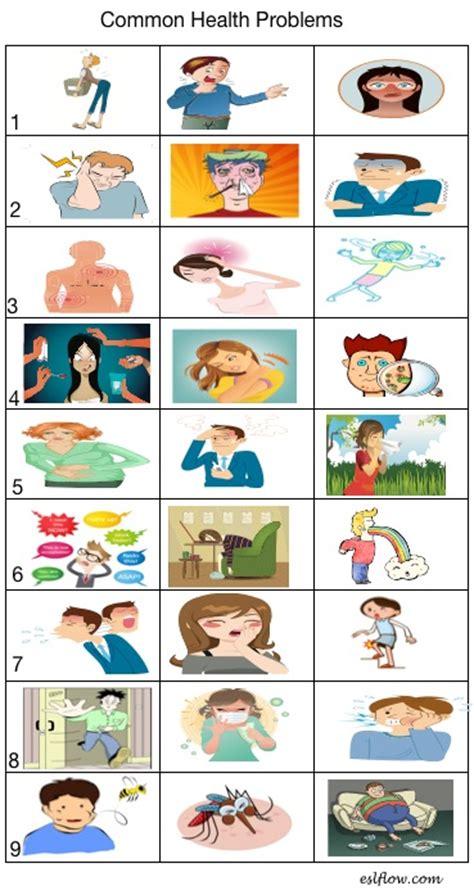 Commonhealthproblemsvocabularyworksheet Eslflow