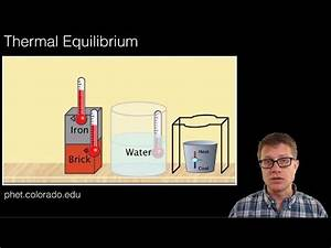 Scientiflix - Thermal Equlibrium Paul Andersen explains how...