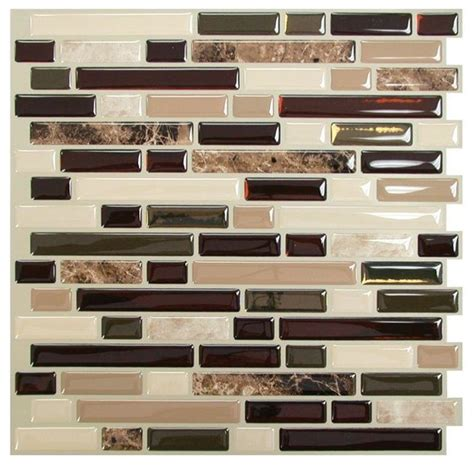 smart tiles bellagio mosaik peel and stick wall tile traditional tile by the home depot