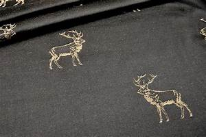 Stoffe Mit Hirschmotiven : dekostoff jacquard zweiseitig hirschrudel dunkelbraun ~ Markanthonyermac.com Haus und Dekorationen