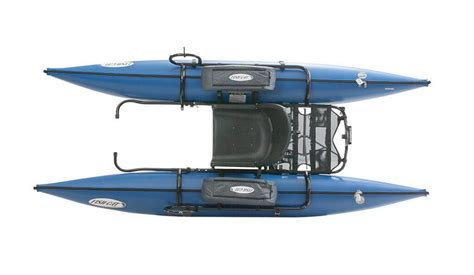 Outcast Fishing Pontoon Boats by Blue Outcast Fish Cat 9 Ir Pontoon Belly Boat Review