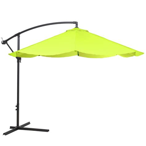 garden 10 ft offset aluminum hanging patio umbrella