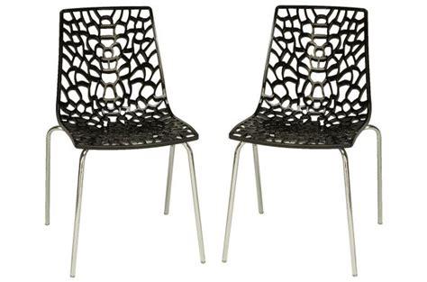 lot de 2 chaises anthracites traviata chaises design pas cher