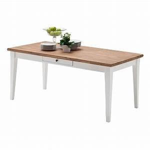 Tisch Weiß Holz : esstisch esszimmertisch tisch landhausstil 180x90 cm holz wei natur neu ~ Markanthonyermac.com Haus und Dekorationen