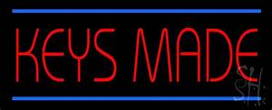 Keys Made Neon Sign|Home Improvement Neon Signs- Every ...