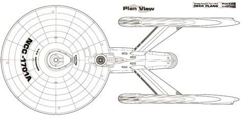 dorsal schematic of u s s enterprise ncc 1701 a trek u s s enterprise ncc 1701 a