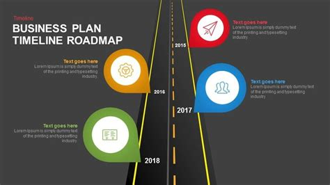 Business Plan Timeline Roadmap Keynote And Powerpoint