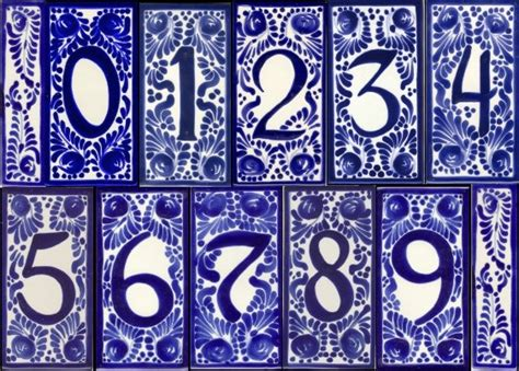house number tile and frames accentslatin accents
