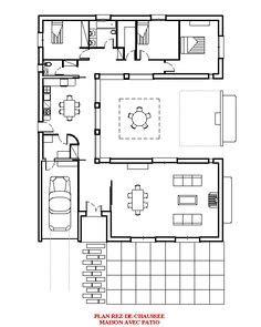 maison contemporaine plain pied avec patio plan de maison villas and patio