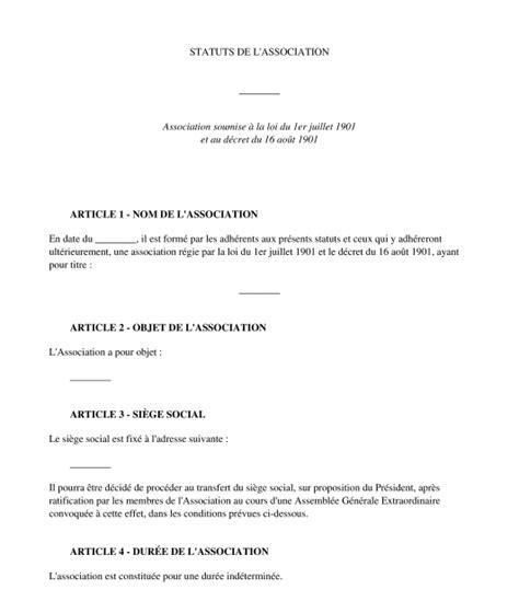 exemple de statuts d association mod 232 le de statuts type en ligne