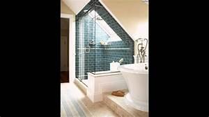Eckbadewanne Fliesen Bilder : ideen badezimmer mit dachschr ge blau backstein by exklusive badezimmer ideen ~ Markanthonyermac.com Haus und Dekorationen