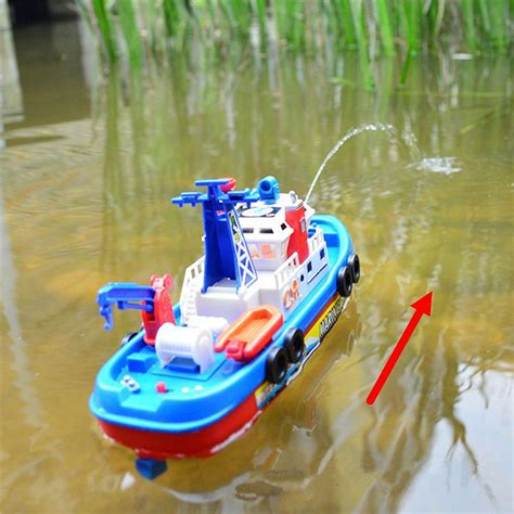 Toy Ships And Boats by Fireboat Sound Flash Light Water Spray Ship Marine Rescue