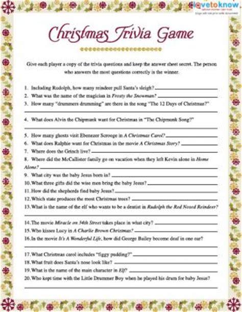 Christmas Trivia Games Lovetoknow