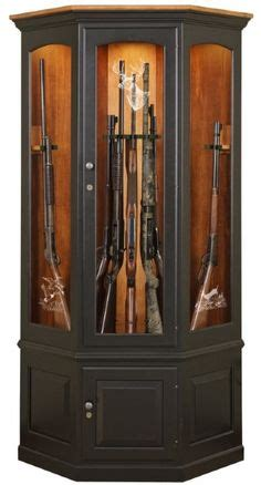 gun cabinets on solid oak magnetic lock and guns
