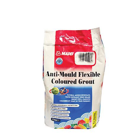 mapei anti mould coloured grout grey 5kg wickes