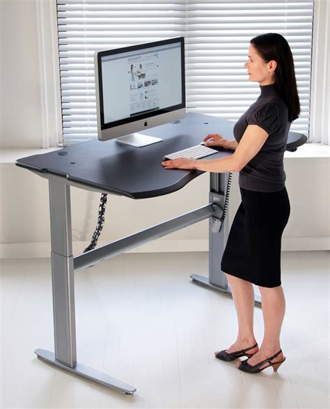 Motorized Or Crank Adjustable Level2 Standing Desk With. Outdoor Buffet Table. Recliner Laptop Desk. Glass Side Table. Wooden Workstation Desk. Table Saw Base. Small Wood Computer Desk. Festool Table. Dwr Desk