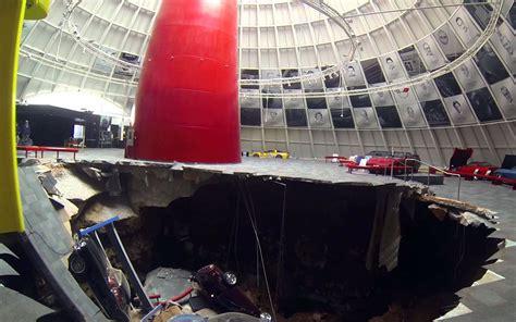 sinkhole devours valuable cars at the national corvette