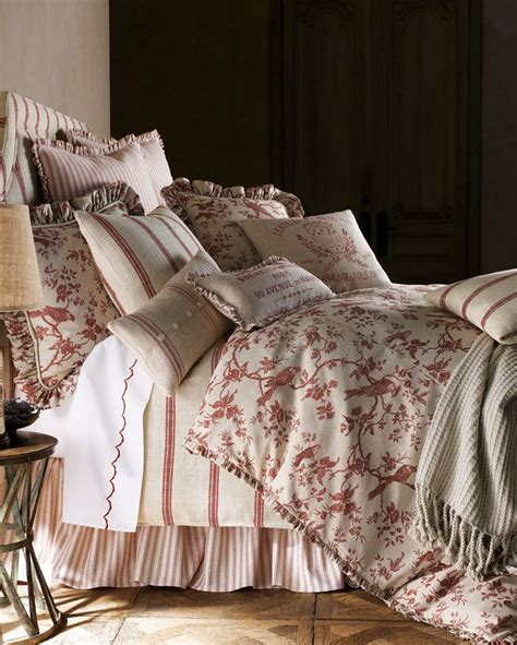 French Laundry Home Bird Linens In Berry  Linens N Things