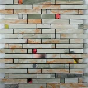 adhesive mosaic tiles silver aluminum kitchen