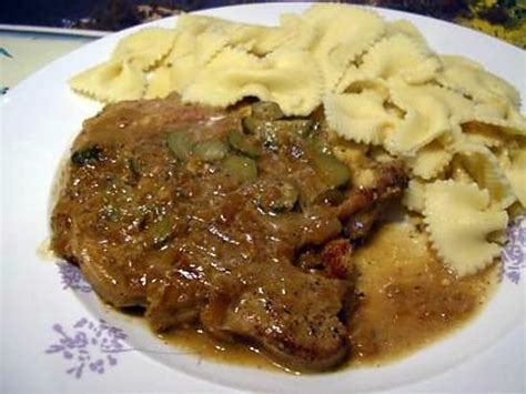recette de cotes de porc en saupiquet