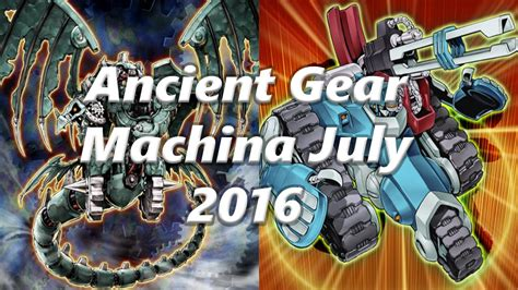 yugioh ancient gear machina deck july 2016 duels deck