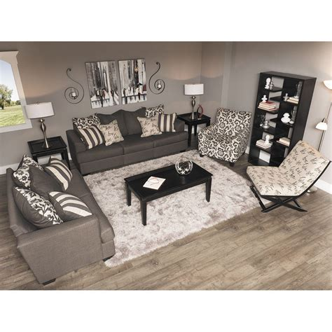 levon charcoal loveseat ll 734 l furniture 7340335 afw