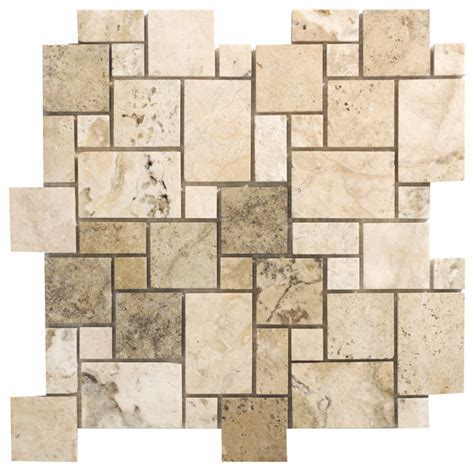 picasso travertine series mini versailles pattern mosaic contemporary wall and floor tile