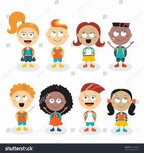 Royalty-free Happy kids cartoon characters isolated ...
