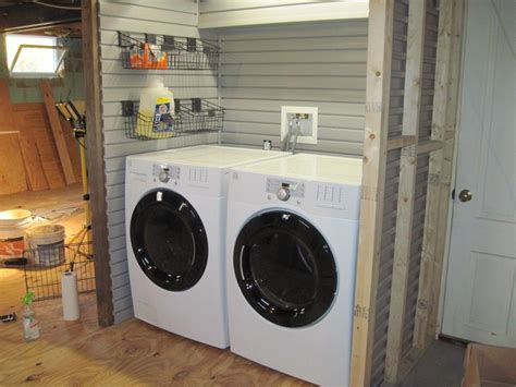 Using Slatwall For Laundry Room Organization