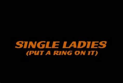 Single Ladies (put A Ring On It) (karaoke Cd+g