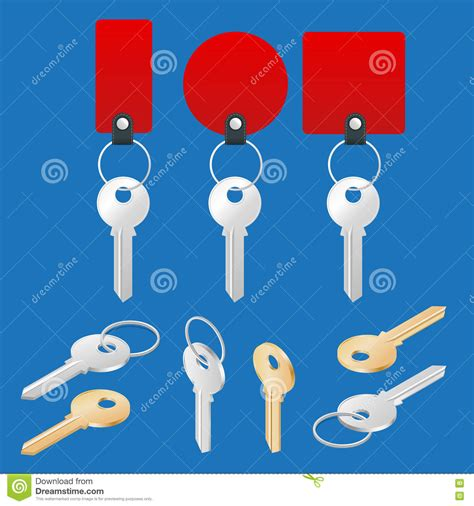Car Keys Set Vector Illustration Isolated On White Background Vector Illustration