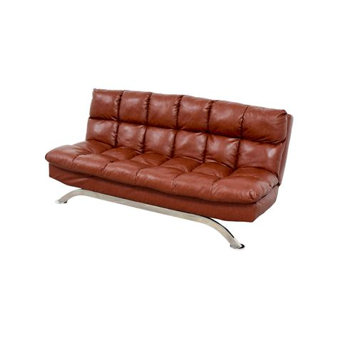 62 wayfair wayfair brookeville brown leather sleeper futon sofas