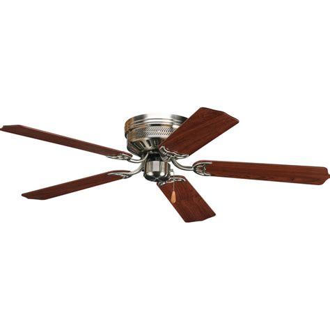 shop progress lighting airpro hugger 52 in brushed nickel flush mount ceiling fan at lowes