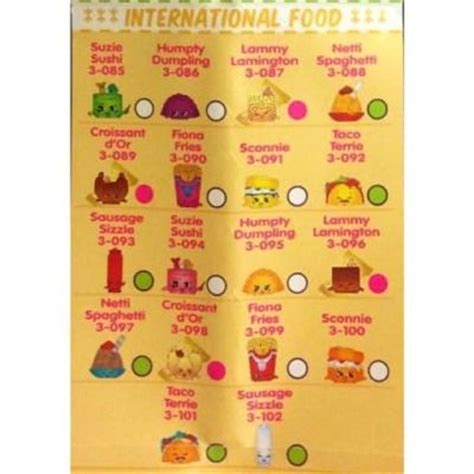 shopkins season 3 collector s guide leaked shopkins international food is category 6