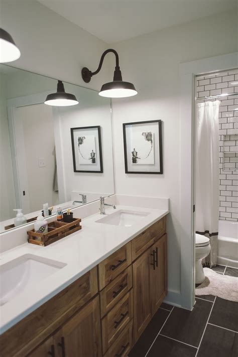 Neoteric Rustic Bathroom Lighting Ideas Home Design