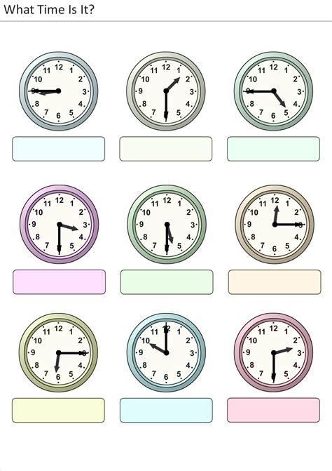 Clock Face Worksheets  Printable Shelter