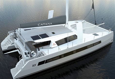 Catamaran Design Features by Catana 53 A New Sailing Catamaran Is Coming Boats
