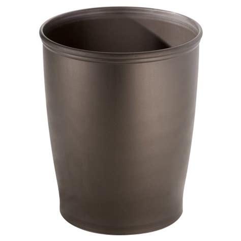 interdesign kent trash can for bathroom kitchen