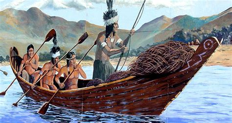 Types Of Native American Boats by California