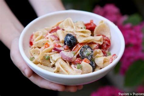 recette de salade de p 226 tes facile aux tomates poivrons et ricotta