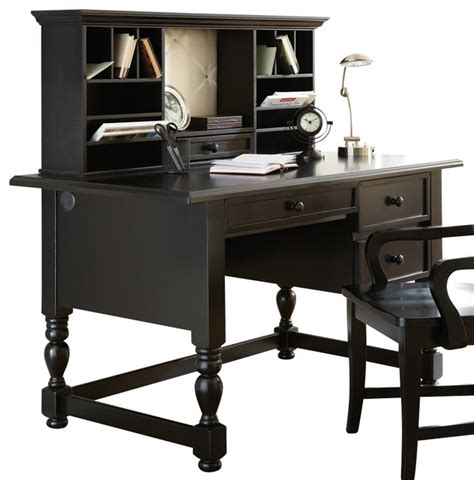 steve silver writing desk with hutch in black