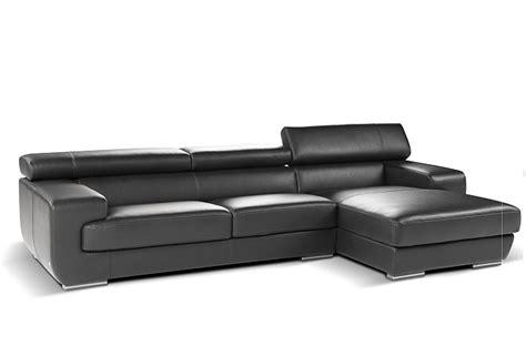 Nicoletti Italian Leather Sofa by Nicoletti Grace Sectional Modern Furniture