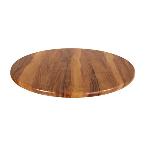 600mm Round Isotop Plus Table Top in Shesman Timber Look ? Cafe Solutions