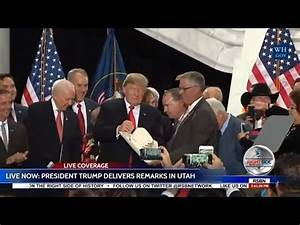 LIVE President Trump Speech in Utah to Announce Shrinking ...