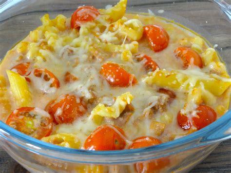 recette de gratin de p 226 tes au thon et aux tomates dine move